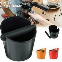 Coffee Knock Box Shock-absorbent Espresso Waste Bin Grind Knock 3 Handle F8J3