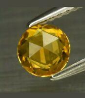 Zafiro  Amarillo 0.61ct 5.3mm vs natural de songea