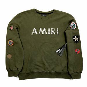 AMIRI PRINT CREW NECK BLACK SWEATSHIRT SIZE: XL RRP £760