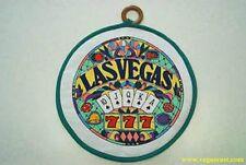 Las Vegas Casino Pot Holder Poker Kitchen Green Stained Glass Royal  Flush 777