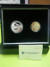 Malaysia 80 year ATM Angkatan Tentera proof set of 2 coin Nice No.338 2013