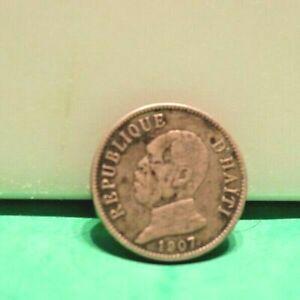 COIN HAITI 1907 COIN 50 REPUBLIQUE D'HAITI LIBERTE