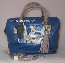 GUESS Spotlight Shoulder Bag Purse Box Satchel Tassel Heart Charm Snake Pocket
