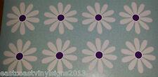 "8 x 3"" Daisy Flowers  - white & purple car sticker, decals, graphics, Daisies"