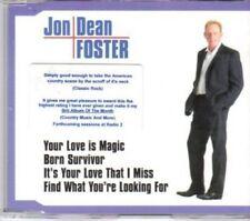 (AY752) Jon Dean Foster, Your Love Is Magic- 2001 DJ CD