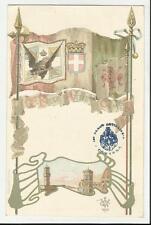 CARTOLINA MILITARE REGGIMENTALE  REGGIMENTO ARTIGLIERIA CAMPAGNA 1901