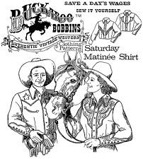 Buckaroo Bobbins Saturday Matinee Cowboy Western Shirt Men Women Sewing Pattern
