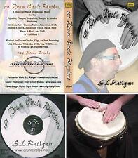 2 Hour 101 Drum Circle Rhythms DVD & Free 70 Min. CD Djembe Congas Cajon Doumbek