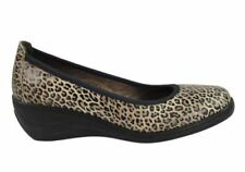 Wedge Leather Leopard Heels for Women