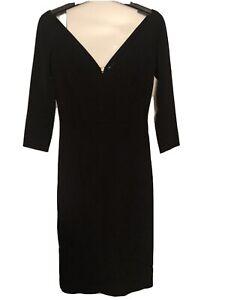 Safiyaa London Black Bodycon Dress Eu 36 Uk 6