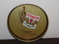 "VINTAGE 1953 BAR 11 3/4"" ACROSS STEGMAIER GOLD BEER MEDAL ALE METAL SERVING TRAY"