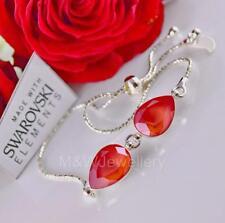 Pulsera De Plata 925 Luz de Piedra de pera Fantasía Coral cristales de Swarovski ®