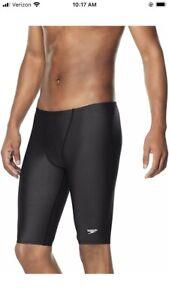NWT Speedo Men's Swimsuit Jammer Swim Trunks  Eco ProLT Anthracite Size 34