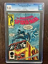 AMAZING SPIDER-MAN #254 CGC NM/MT 9.8; White pg!; black costume (7/84)!