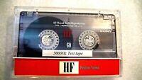 NEW Speed Calibration Test Tape For Cassette Players: Decks, Boomboxes, Walkmen