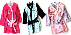 Girls Boys Toddler Kids Soft Fleece Cartoon Character Bath Robe Dressing Gown