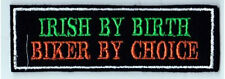 IRISH BY BIRTH BIKER BY CHOICE PATCHES BIKER SEW ON BUY 5 PAY FOR 4!!