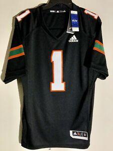 Adidas Premier NCAA Jersey University of Miami Hurricanes #1 Black sz S