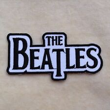 THE BEATLES ROCK BAND LOGO MUSIC EMBROIDERY IRON ON PATCH #WHITE WITH BLACK