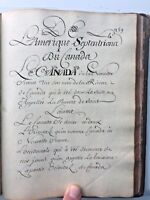 1700's French Handwritten 18c Manuscript Calligraphy Intro A La Geographie 315pp