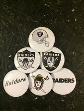 """1.25"""" Oakland Raiders pin back button set of 6"""