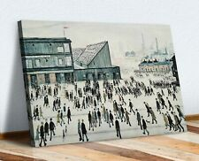 LS Lowry Going to the Match CANVAS WALL ART PICTURE FRAMED PRINT PAINTING