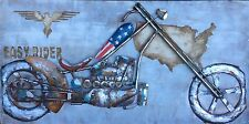"Quality 3D Metal Wall Art ""Easy Rider""  Shipping Guarantee: Max $35"