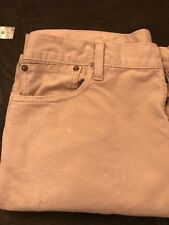 Rare Polo Ralph Lauren BOOT CUT 750 BUTTON FLY Stone Cords Distressed 36 X 32