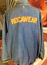 Rocawear Denim Jacket Size 3XL XXXL Denim Coat Embroidered Logo RARE