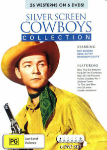 SILVER SCREEN  - COWBOYS COLLECTION - 6 DISC - 26  WESTERNS  ALL REGIONS