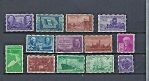 1946-1947 Full Set U.S COMMEMORATIVE STAMPS  Scott 939-47,949-52 MNH OG