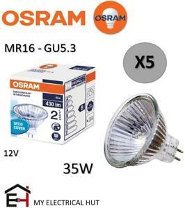 5X OSRAM MR16 35W-M281 Decostar 51 Standard Halogen Light Bulb 12V GU5.3