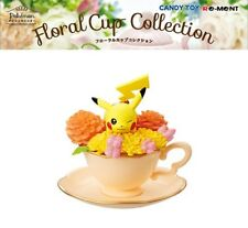 RE-MENT Pokemon Floral Cup Collection Miniature Toy Figure 1 Pikachu Flowers NEW