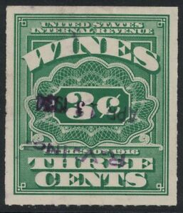Scott RE61- Used- 3c Wines, Revenue Stamp- Series of 1916 (1933 Issue)- BOB