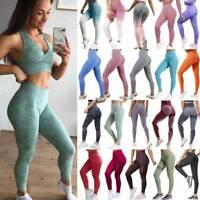 Women Sport Pants High Waist Yoga Fitness Leggings Running Gym Workout Trousers