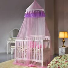 Pink Lace Bed Netting Canopy Mosquito Net Round Net Flying Insects Protection Us