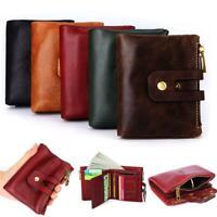 Women's Bifold Wallet Genuine Leather RFID Blocking Coin Card Holder Purse Gift