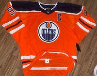 NWT Wayne Gretzky Edmonton Oilers Throwback Hockey Jersey CCM Size 2XL XXL (56)