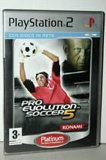 PRO EVOLUTION SOCCER 5 USATO BUONO SONY PS2 ED ITALIANA PAL PLATINUM VBC-E 36152