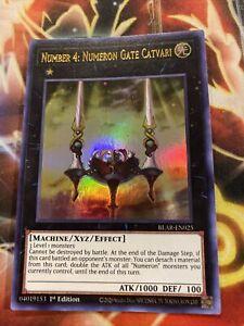 Number 4: Numeron Gate Catvari BLAR-EN025 1st Edition Ultra Rare NM Yugioh