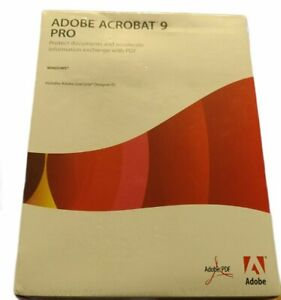 Adobe Acrobat 9 Pro Professional for Windows with Serial Number New Sealed