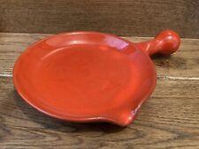 Rare Charles Voltz Vallauris France Art Pottery Vintage Orange Skillet 15cm