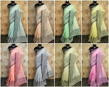 Saree Bollywood Sari Indian Designer Style Mirror Work blouse Wear Wedding GF