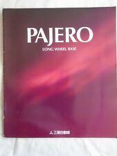 Mitsubishi Pajero Long Wheel Base brochure 1998 Japanese text + Accessories