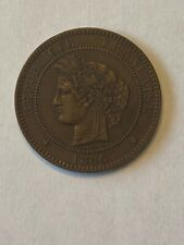 France 1886 A 10 Centimes in Uncirculated Condition. Beautiful Coin!!!!