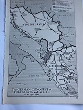 Map of German Conquest Yugoslavia & Greece April German Invasion of Russia 1941
