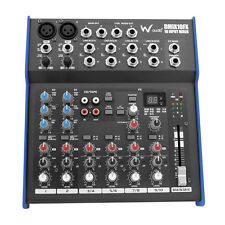 W-Audio DMIX10FX 10 Input Live PA Karaoke Mixer with 3 Band EQ with 100 FX
