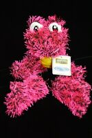 "HOT PINK BLACK FROG 15"" Plush Stuffed Animal Amphibian Doll Ideal Toys Direct"