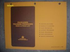 Rare Vintage 1980 IH Construction Packaged Training Programs Index & Price List