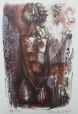 Georgi daskaloff 1923-2005 matita firmato Ltd Edition litografia figura in piedi